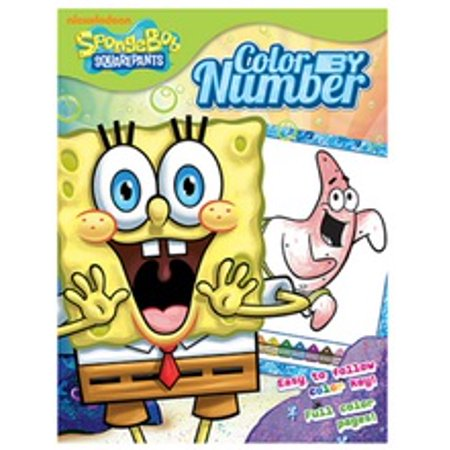 spongebob squarepants color by number 20pg color by number coloring