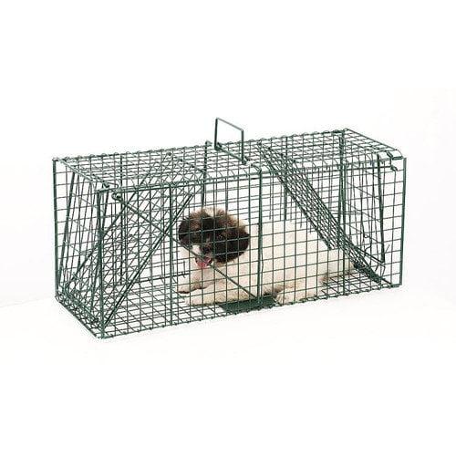 Pentagon Green Dual Door Live Animal Pet Trap / Cage