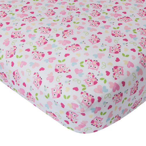 Bedtime Originals Bubblegum Jungle Fitted Crib Sheet