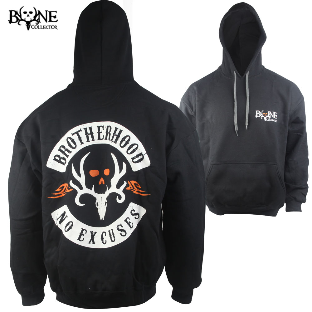 Bone Collector No Excuses Hoodie (L)- Black
