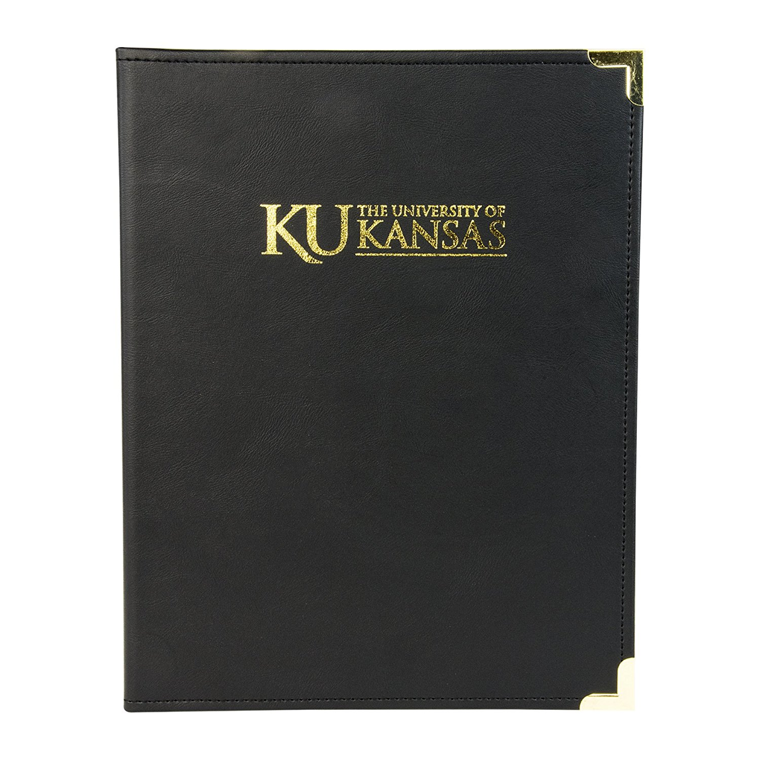 NCAA Kansas University Jayhawks Classic Business Portfolio with Brass Corners by Samsill