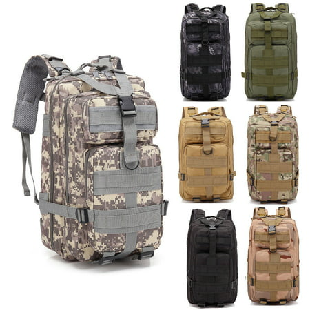 Zimtown 30L Outdoor Neutral Military Tactical Backpack, Adjustable Rucksack Daypack Bag, For Kids Hiking Camping