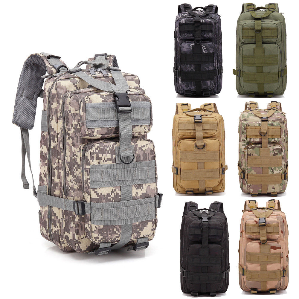 Details about  /Military Rucksacks Tactical Backpack Outdoor Camping Hiking Trekking Bag 30L