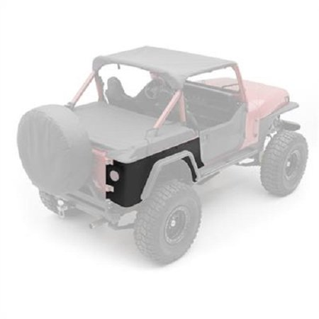 Smittybilt 1987-1995 Jeep Wrangler YJ XRC Rear Corner Guards Black Textured 76876