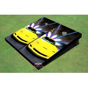 Yellow Corvette Themed Cornhole Boards