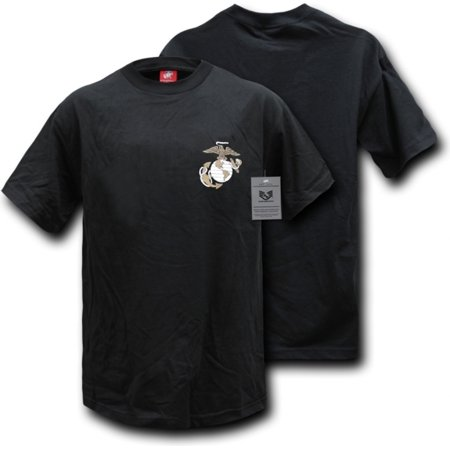 S26-MAR-BLK-04 Basic Military T-Shirt, Marines, Black, Extra (Extra Large T-shirt)