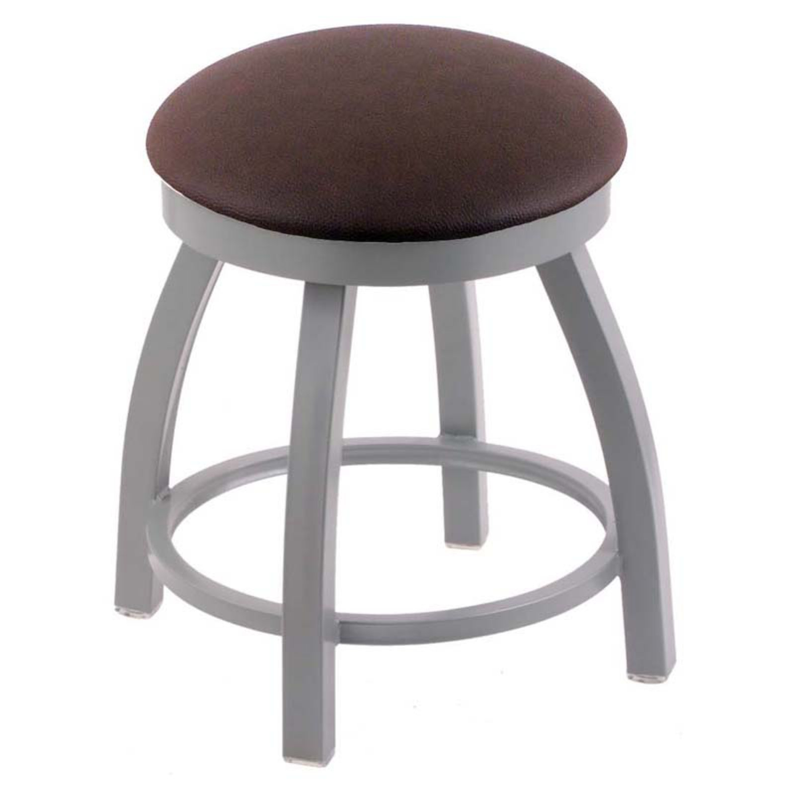 Holland Bar Stool Misha Metal Swivel Dining Stool with Faux Leather Seat
