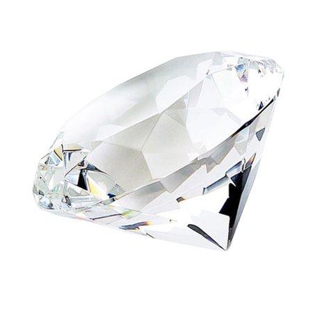 Optical Crystal Diamond Paperweight - Heim Concept Diamond Shaped Paperweight