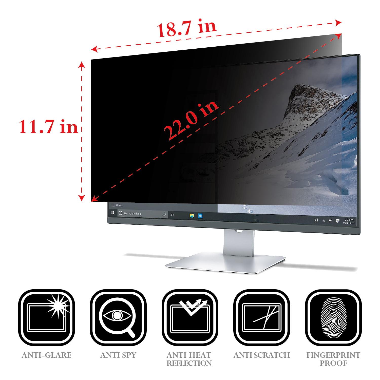 "22/"" Inch 16:10 Privacy Screen Filter Anti-Glare Protector Film Damage Scratch"