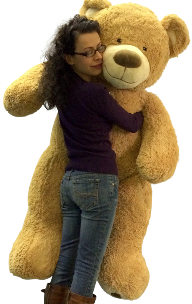 5 Foot Giant Teddy Bear Huge Soft Tan with Bigfoot Paws Giant Stuffed Animal 60 Inch by Big Plush
