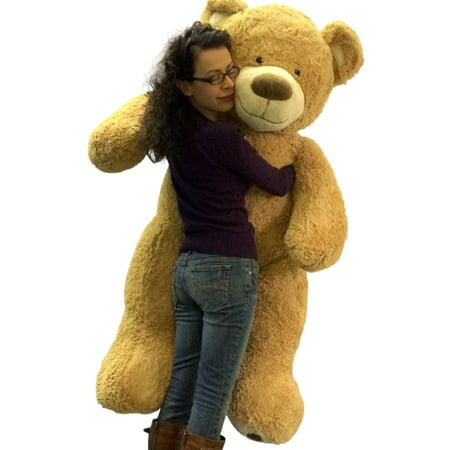 5 Foot Giant Teddy Bear Huge Soft Tan with Bigfoot Paws Giant Stuffed Animal 60 (Tan Soft Toy)