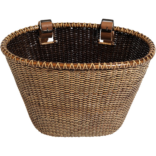 Nantucket Bicycle Basket Co. Lightship Collection Bicycle Basket, Dark Stain
