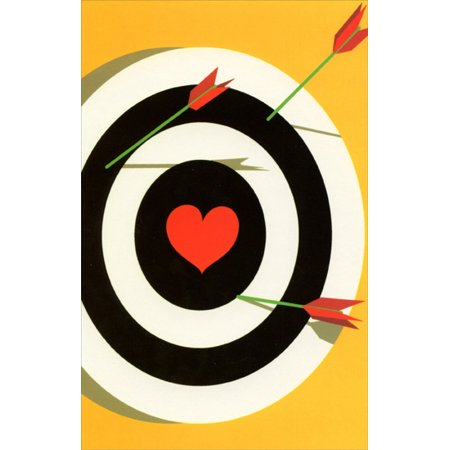 Freedom Greetings Bullseye With Heart Center Miss You Card