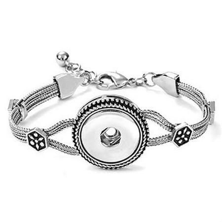 1-Snap Heritage Fashion Bracelet SN90-35 - Snap On Bracelets
