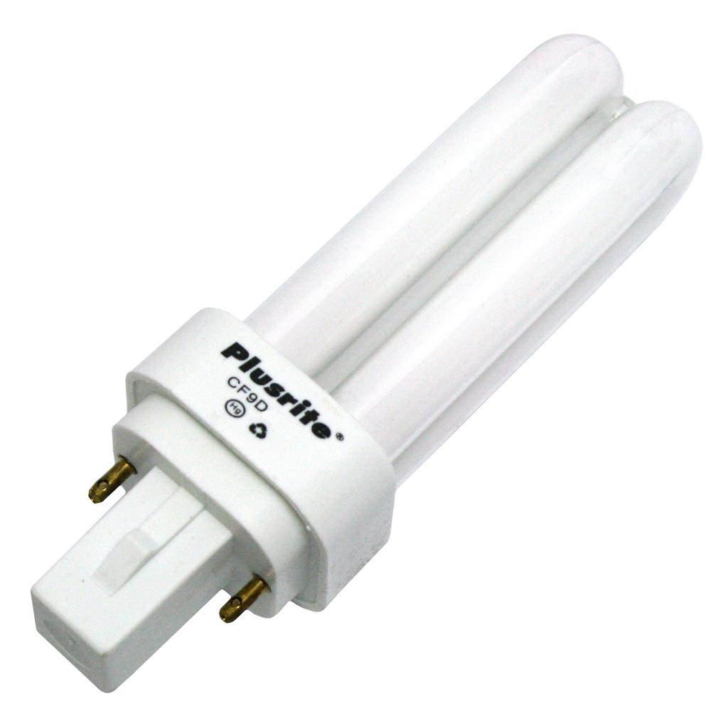 Plusrite 04016 - PL9W/2U/2P/835 4016 Double Tube 2 Pin Base Compact Fluorescent Light Bulb