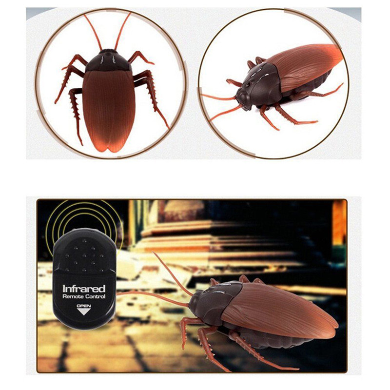 Remote Control Fake Cockroach Spider  Ant RC Prank Toys Insects Joke Scary Trick Bugs for Party Joke Trick Bugs Scary Toy