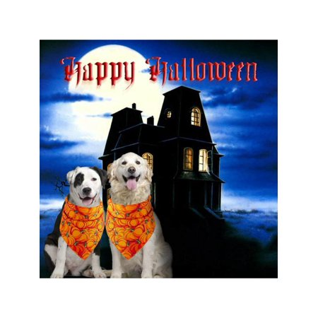 Halloween Dog Gifts (MarinaVida Halloween Pet Dog Bibs Scarf Washable And Adjustable Great Pets)