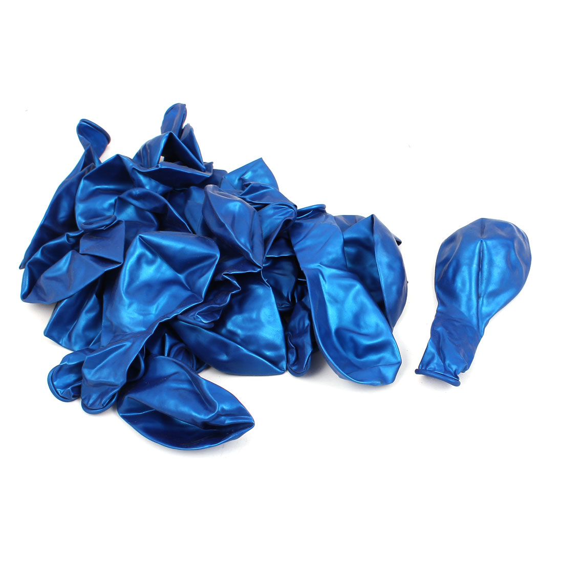 Wedding Party Festival Decoration Latex Round Shape Balloons Dark Blue 25 Pcs