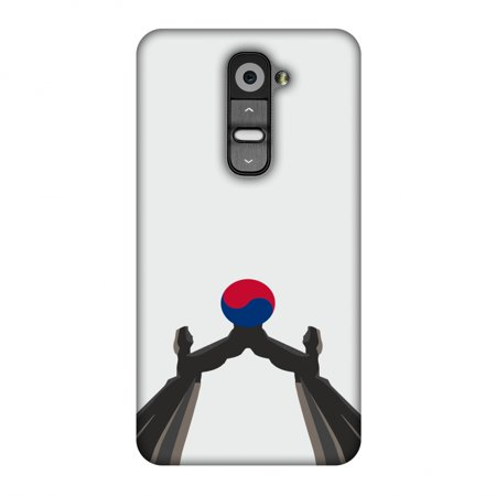 LG G2 Case, Premium Handcrafted Printed Designer Hard Snap on Shell Case Back Cover with Screen Cleaning Kit for LG G2 D802 - Unification Arch- South Korea flag ()