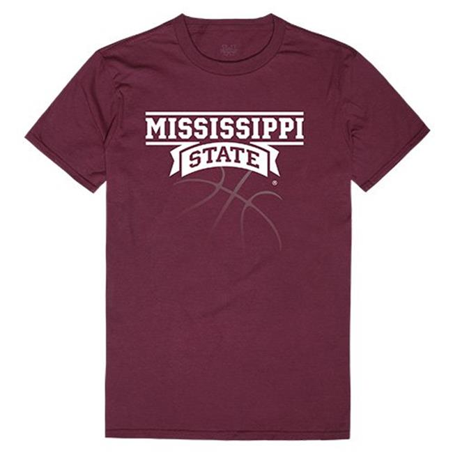 W Republic Apparel 510-133-327-05 Mississippi State Basketball Mens Tee, Maroon - 2XL