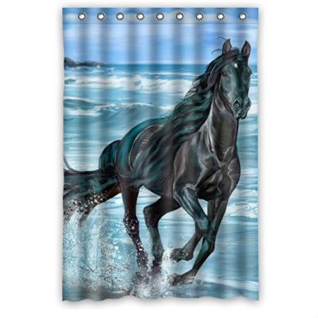 XDDJA running horse design Shower Curtain Waterproof Polyester Fabric Shower Curtain Size 48x72 inches - image 1 of 1