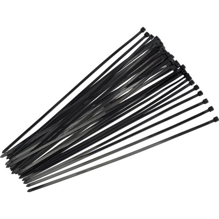 Boston Industrial 18 Tensile Strength 4 Inch Cable Ties, 100 Pack - UV