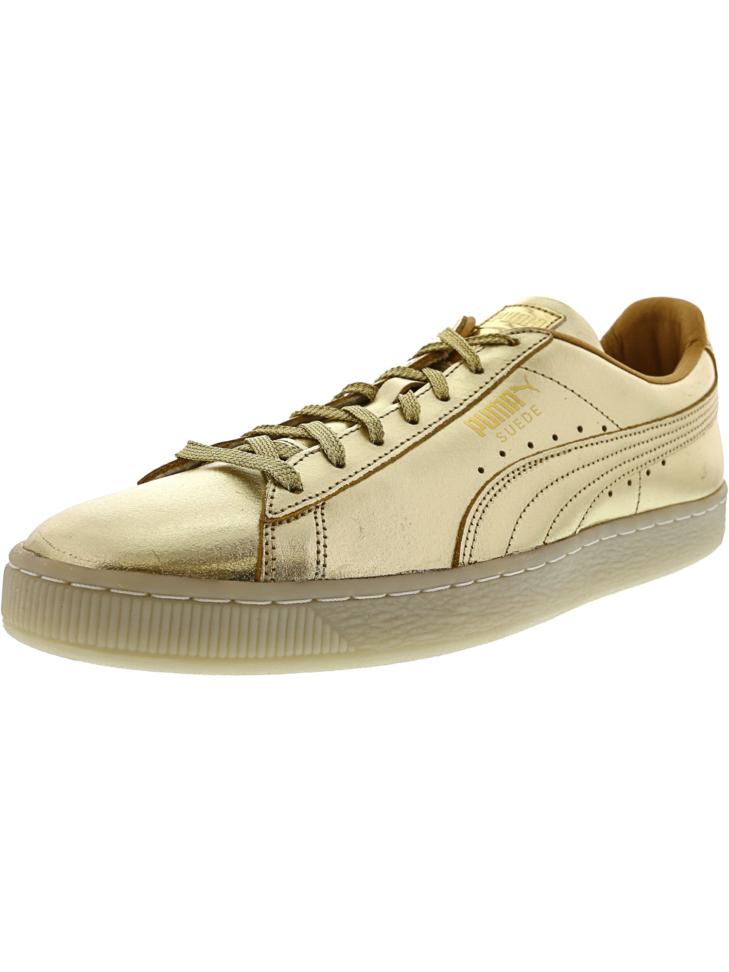 Gold Ankle-High Fashion Sneaker