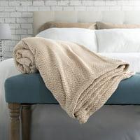 Somerset Home Chevron 100 Percent Egyptian Cotton Blanket