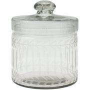 Clear Cut Glass Trinket Box with Lid