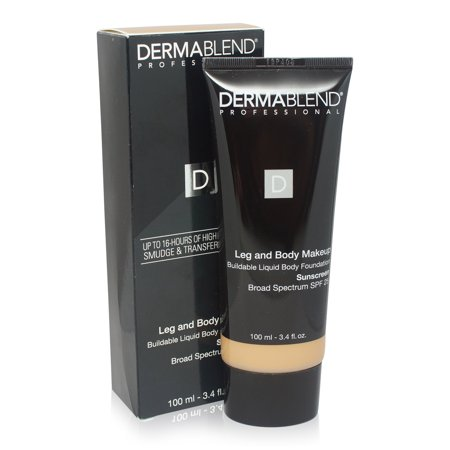 Dermablend Leg and Body Cover Make-Up SPF 25 Medium Natural 40N 3.4 Oz