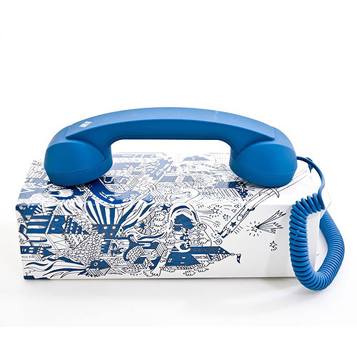 Native Union Retro Handset Pop Phone Handset, Ultra-Marine