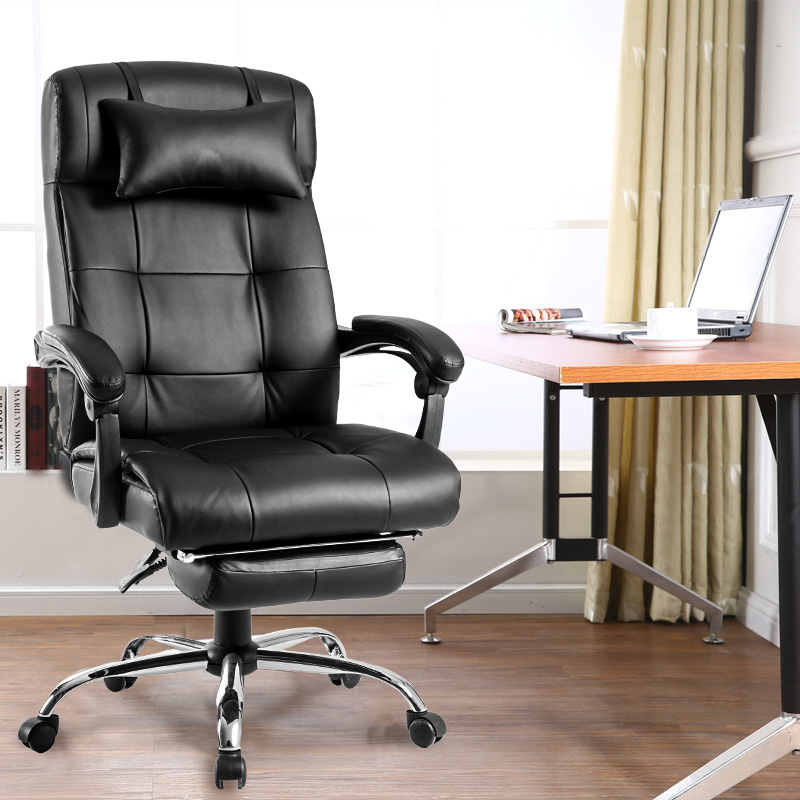 Modern Luxe Executive High Back Office Chair Reclining Napping Swivel Desk  Chair With Footrest
