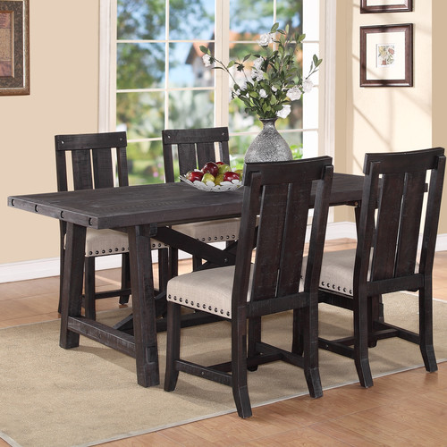 Gracie Oaks Gaudette Brown Extendable Dining Table