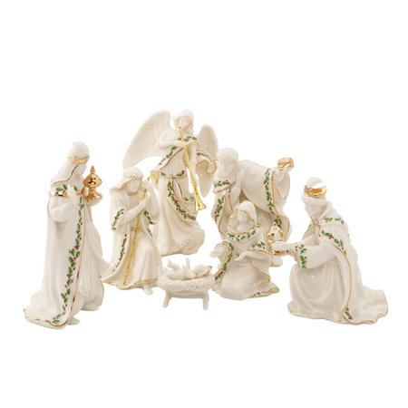 Lenox Holiday 7 Piece Small Mini Nativity Figurines Set