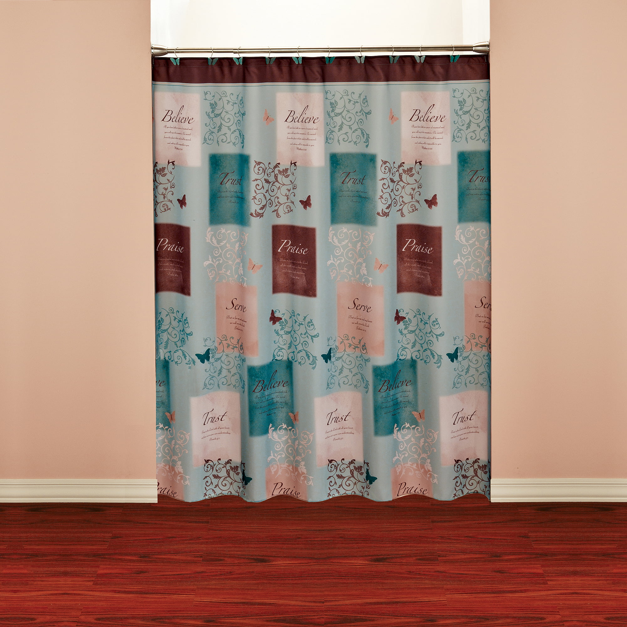 butterfly blessings shower curtain walmart com