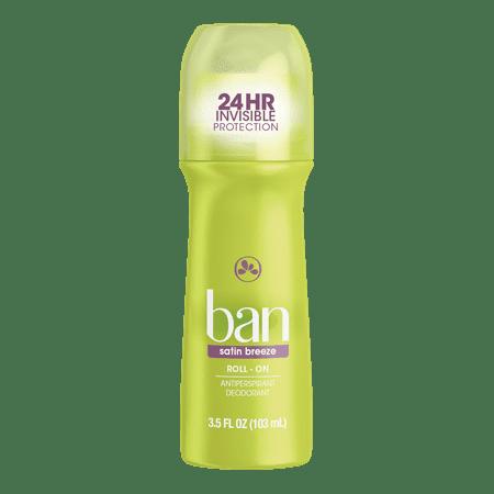 Ban Satin Breeze Roll-On Deodorant 3.5 oz