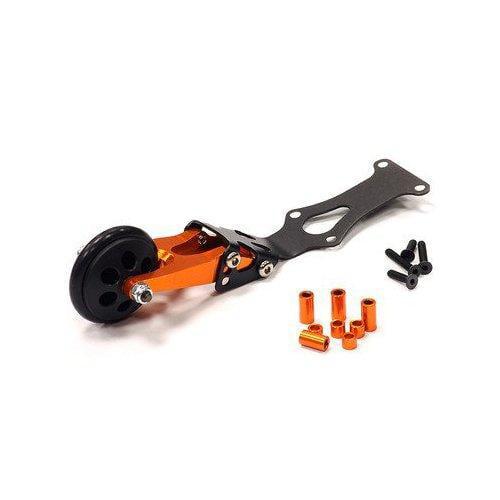 Integy RC Toy Model Hop-ups T3488ORANGE Billet Machined Wheelie Bar for 1 16 Traxxas... by Integy