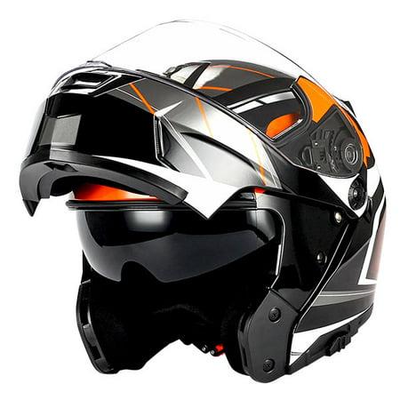 1storm Motorcycle Modular Full Face Helmet Street Bike Flip Up Dual