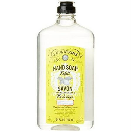 J R  Watkins Liquid Hand Soap Refill, Lemon, 24 Fluid Ounce