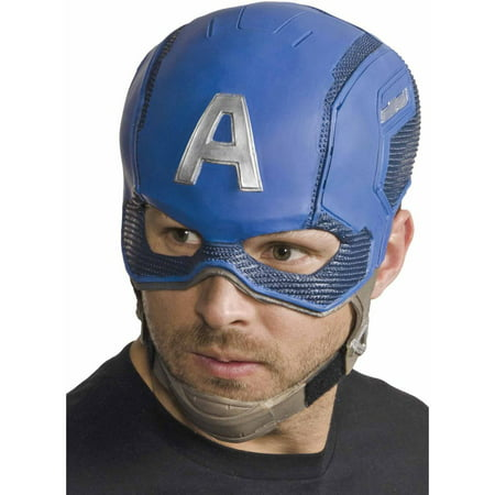 Captain America Full Mask Adult Halloween Accessory - The Purge Characters Halloween