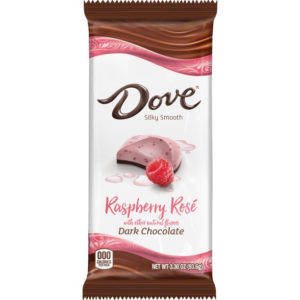 DOVE Dark Chocolate Raspberry Rosé Bar, 3.30-Ounce Bar