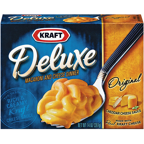 Kraft Deluxe With Original Cheddar Cheese Sauce Macaroni & Cheese Dinner, 14 oz