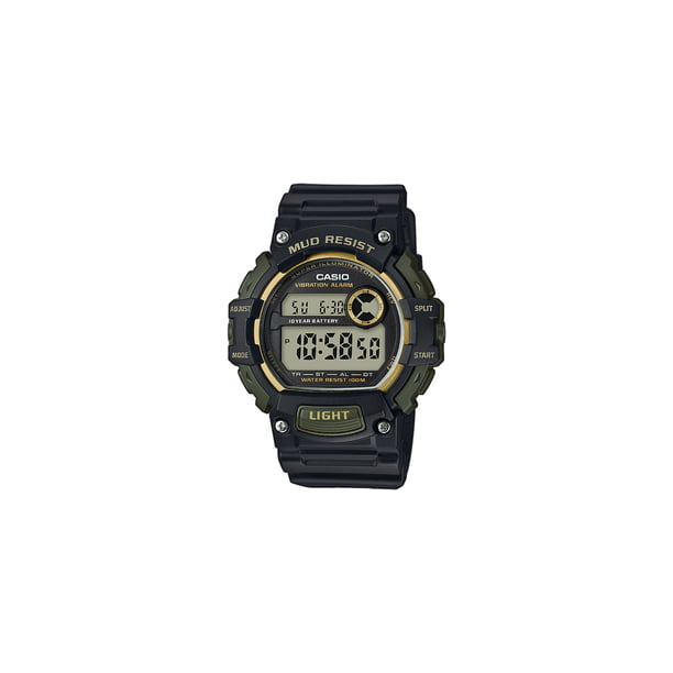 Casio Men's Mud-Resistant Sport Watch, Black/Gold TRT110H-1A2V