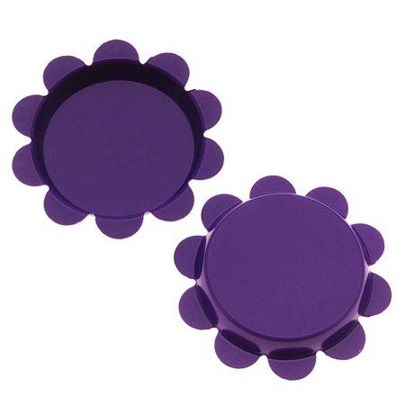 New Purple Flower Bottle Caps Craft Scrapbook Jewelry No Liners 25mm (24) Scrapbooking Bottle Cap