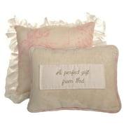 Cotton Tale Designs Heaven Sent Girl 2 Piece Decorative Pillow