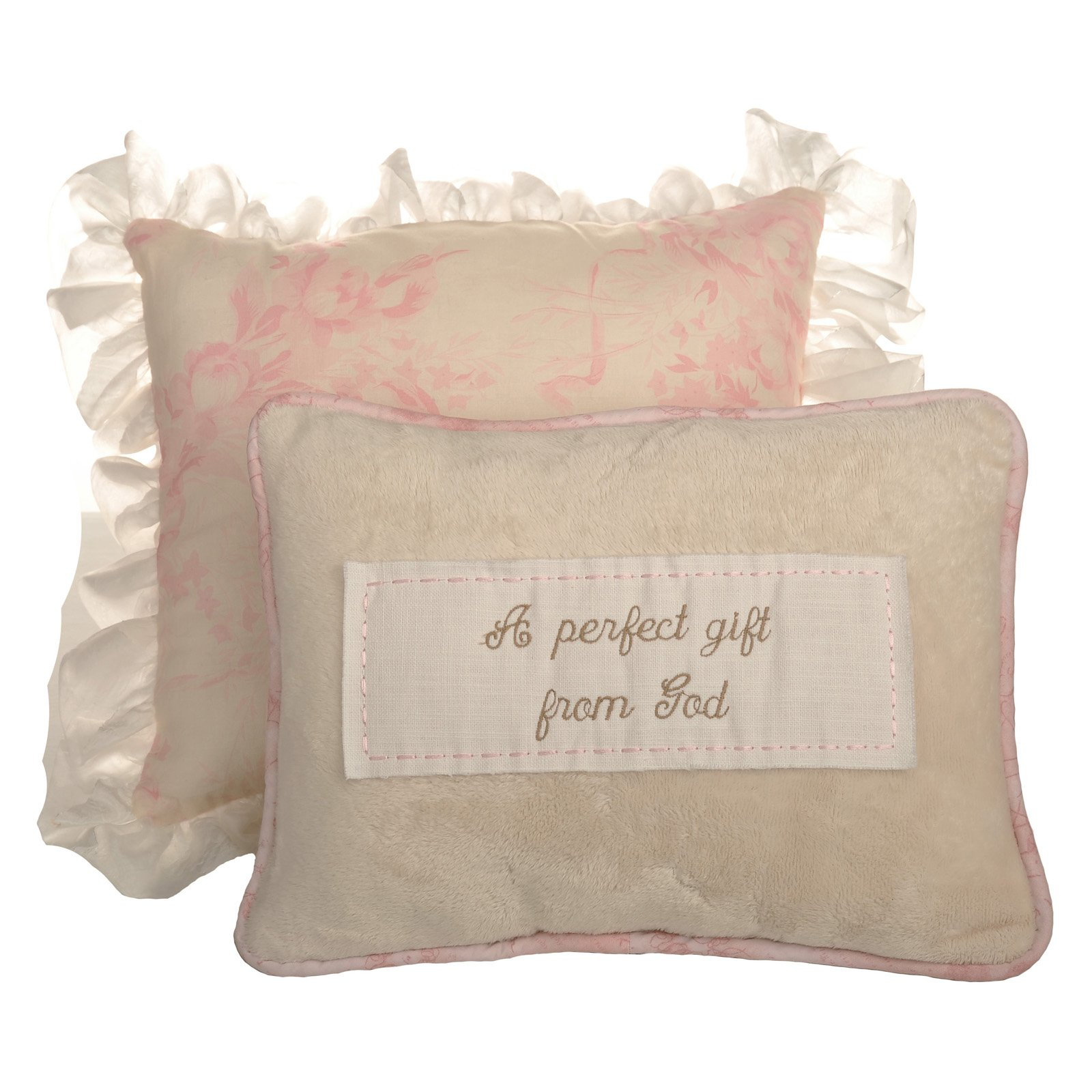 Cotton Tale Designs Heaven Sent Girl 2 Piece Decorative Pillow