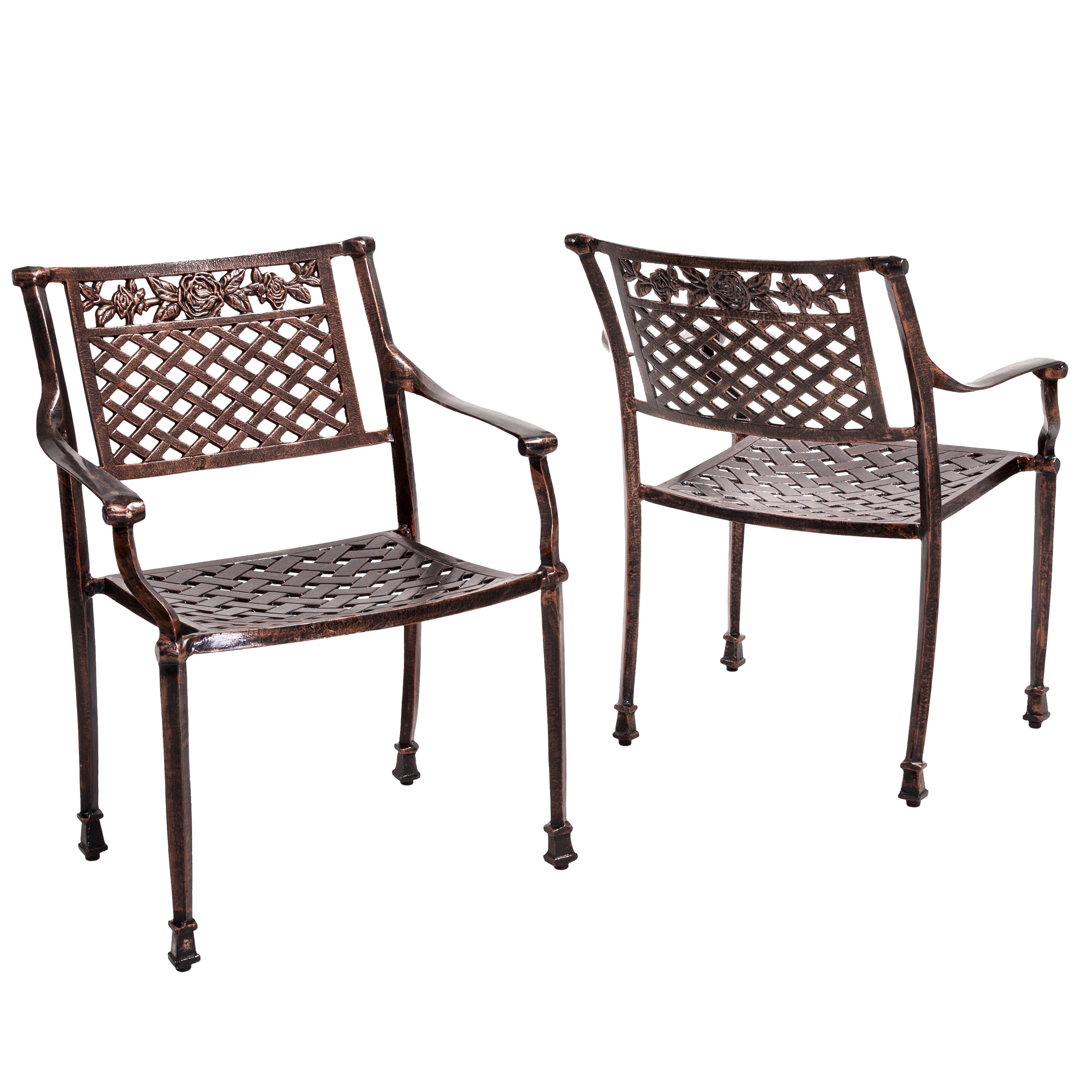 Noble House Cast Copper Outdoor Chair (Set Of 2)