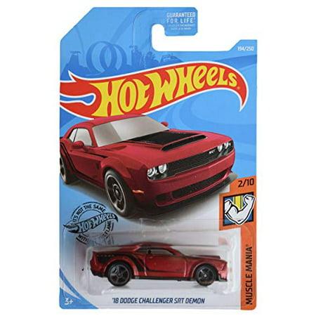 Hot Wheels '18 Dodge Challenger SRT Demon (Maroon) 2019 Muscle