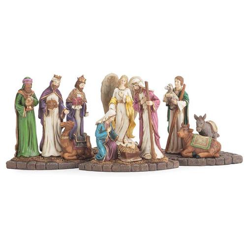 Dicksons Inc 4 Piece Nativity Candle Holder Set