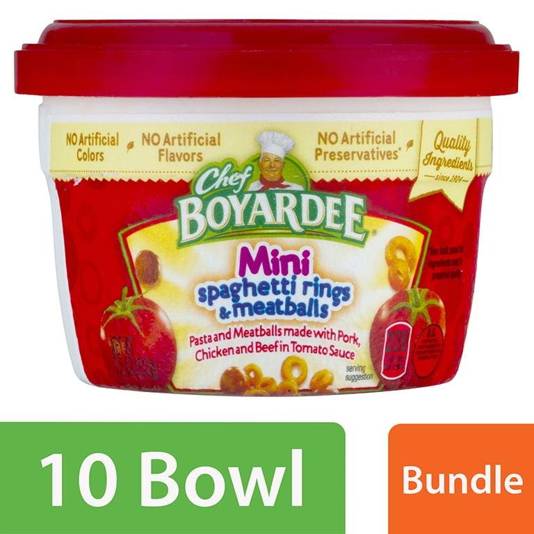 (10 Pack) Chef Boyardee Mini-Bites Spaghetti Rings & Meatballs, 7.5 Oz.